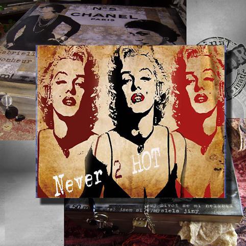 Šperkovnice velká dřevěná - Monroe