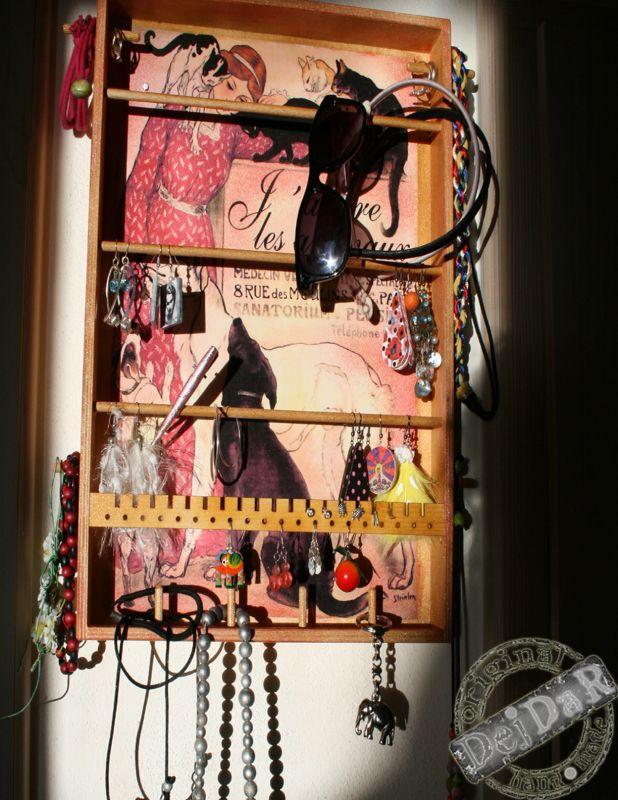 Věšák na šperky – Motiv Paříž