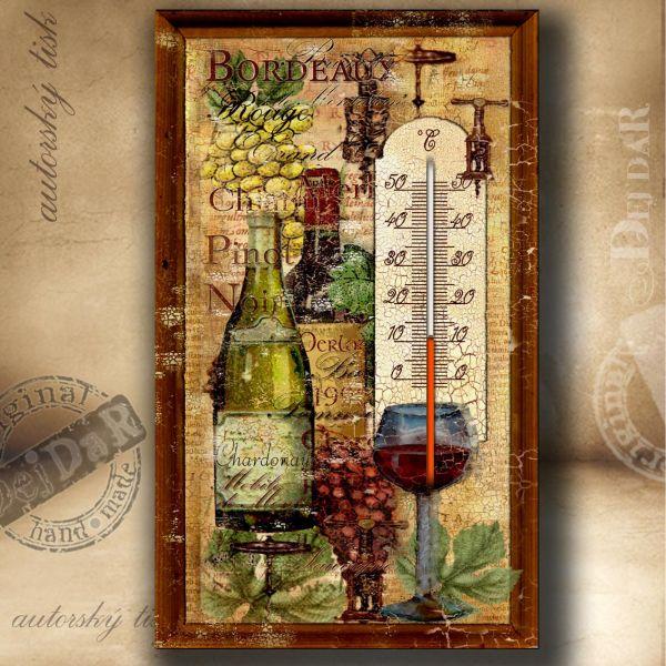 Teploměr pokojový víno II.