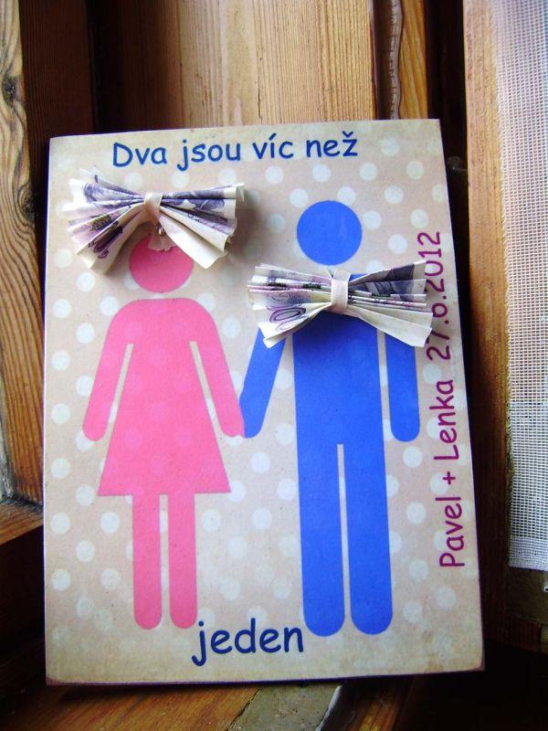 svatební obraz, jak vtipně darovat peníze ke svatbě