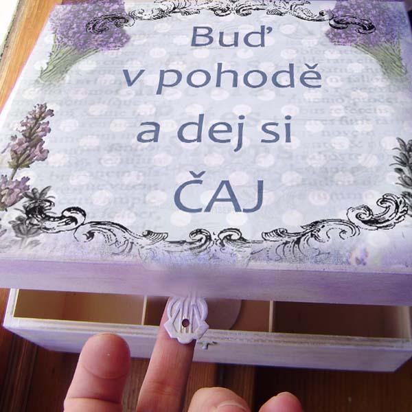 Krabička na čaj - Buď v pohodě a dej si čaj:)