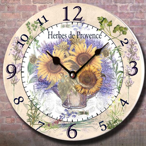 Hodiny nástěnné - motiv Provence