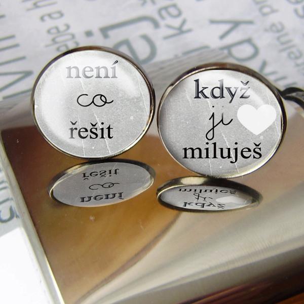 originální svatební manžetové knoflíčky