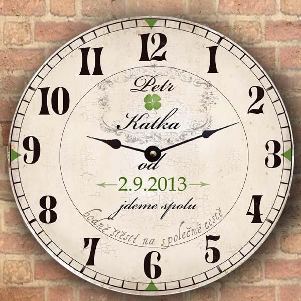 Svatební dar - originální svatební hodiny - jdeme spolu