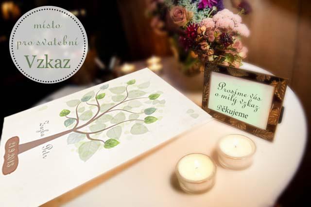 Svatební dar - strom přání jako obraz