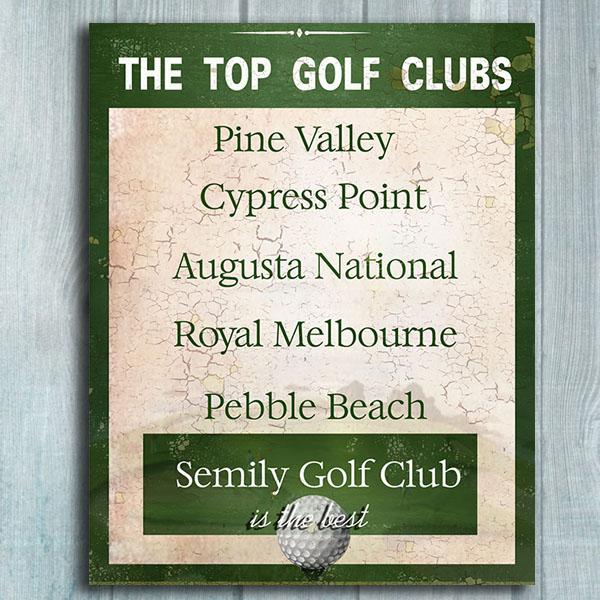 Velký obraz pro milovníky golfu