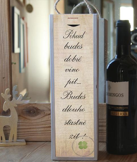 dárek k narozeninám, kazeta na víno