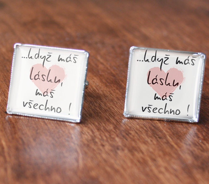 manžetové knoflíčky s monogramem