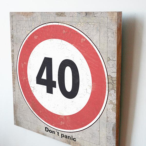 Nástěnný obraz, dárek k 40. narozeninám