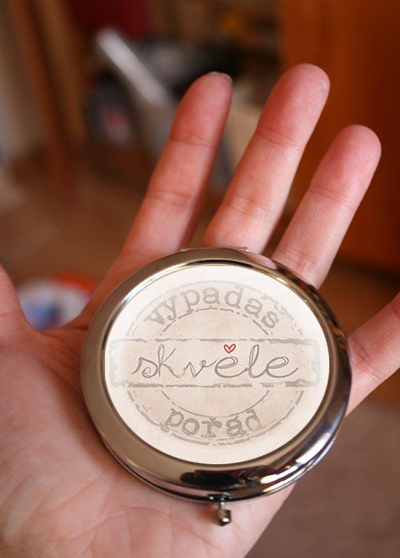 Zrcátko do kabelky, vtipný dárek pro ženy
