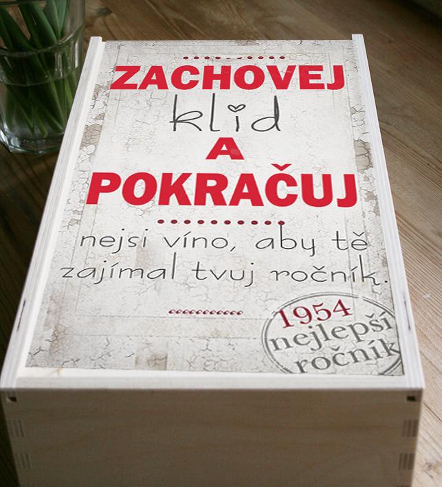 Originální dárek k narozeninám, krabice na víno s rokem narození
