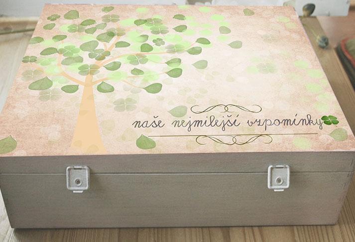 Krabice nejen na fotky, dárek pro rodinu