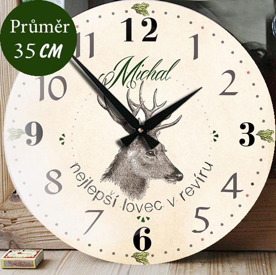 Luxusně velké myslivecké hodiny