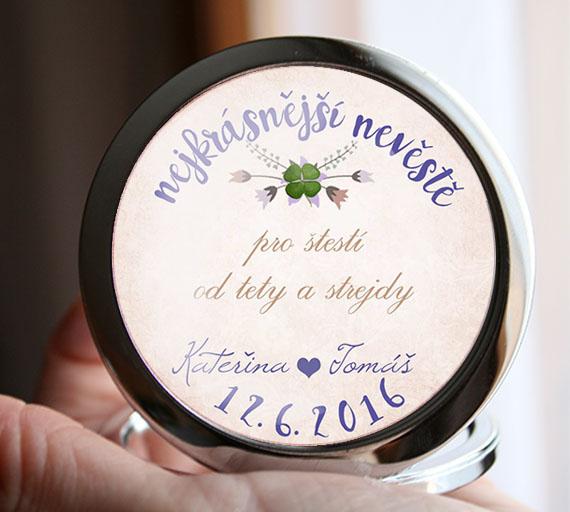 Svatební zrcátko - pro nevěstu s věnováním