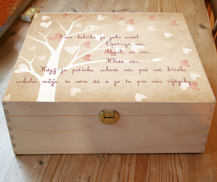 Dárek pro babičku, krabička na fotky nebo drobnosti