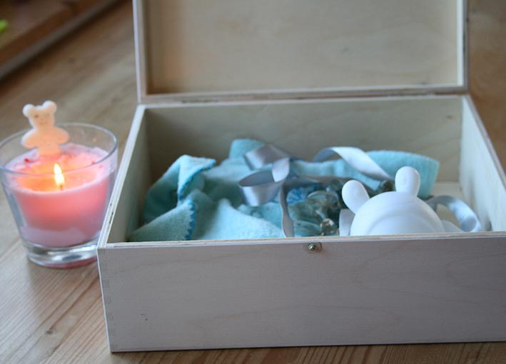 Dárek k narození miminka, krabice pro chlapečka
