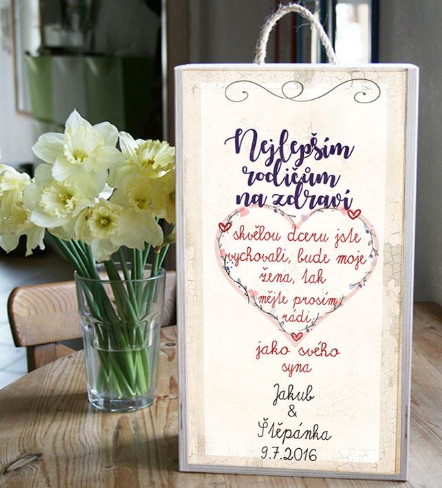 Poděkování rodičům ke svatbě, originální dárek