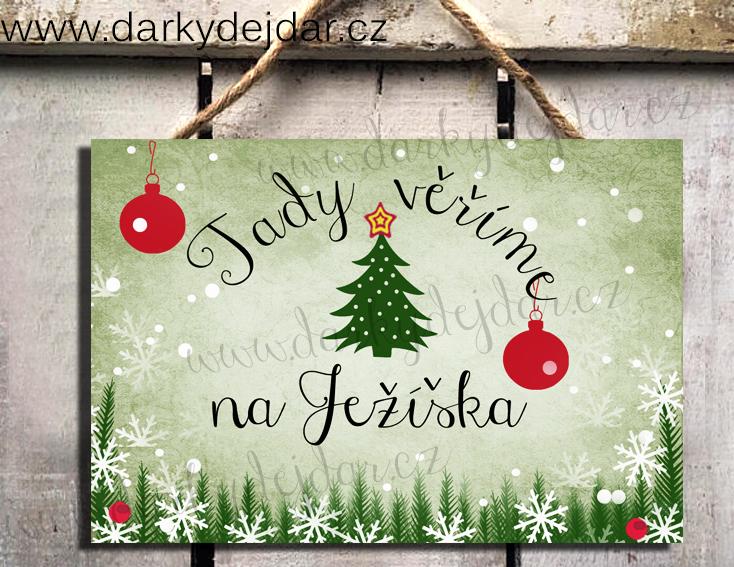 Vánoční cedulka, dárek