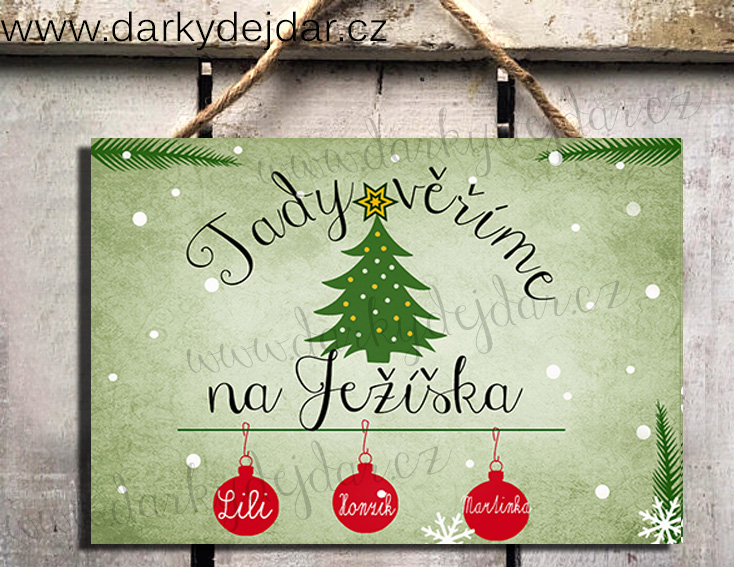 Vánoční cedulka
