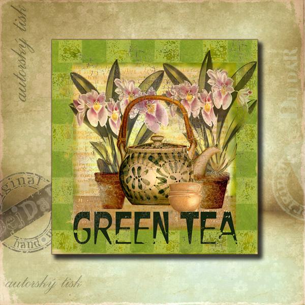 Obrázek čtvercový čaj