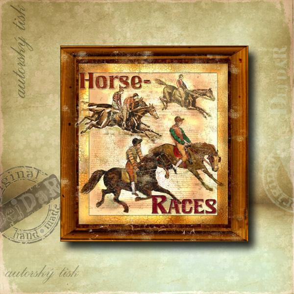 Obrázek čtvercový koně I.