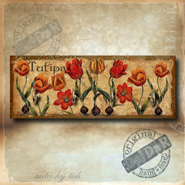 Věšák tulipány