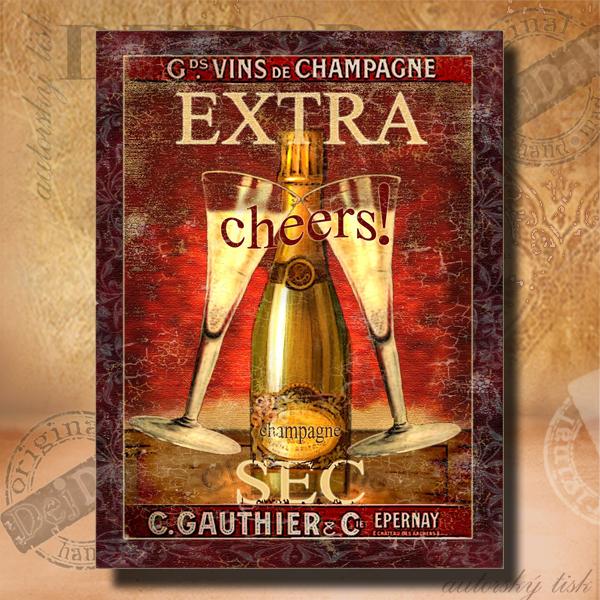 Obrazy šampaňské