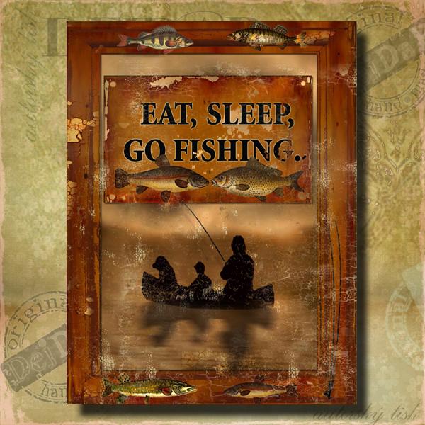 Obrazy rybaření I.