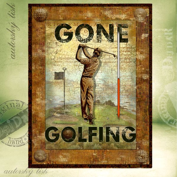 Obrazy golf III.