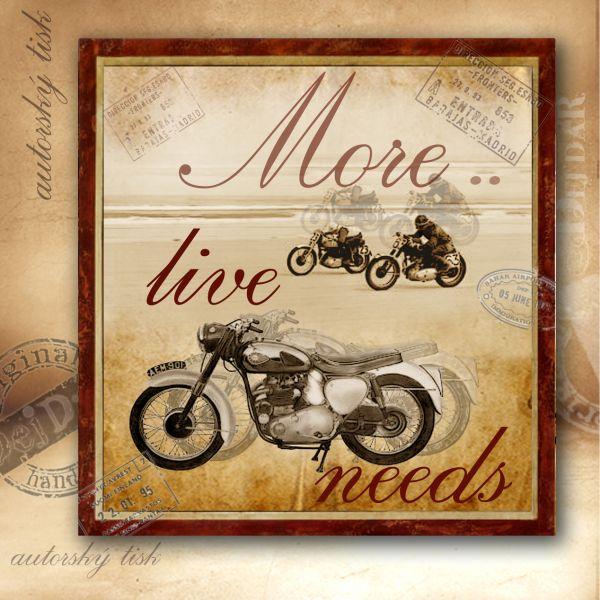 Obrázek čtvercový motorky