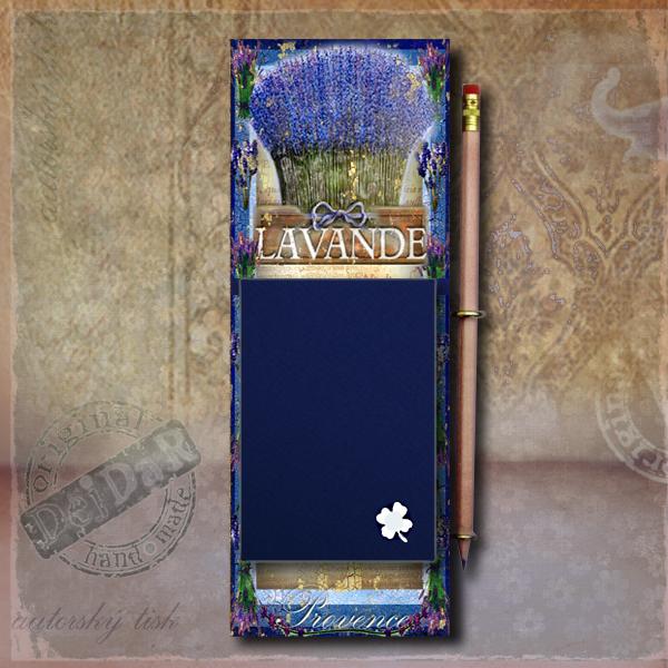 Zápisník dekorace levandule I.