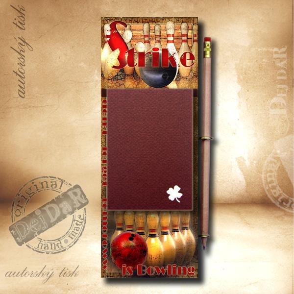 Zápisník dekorace bowling