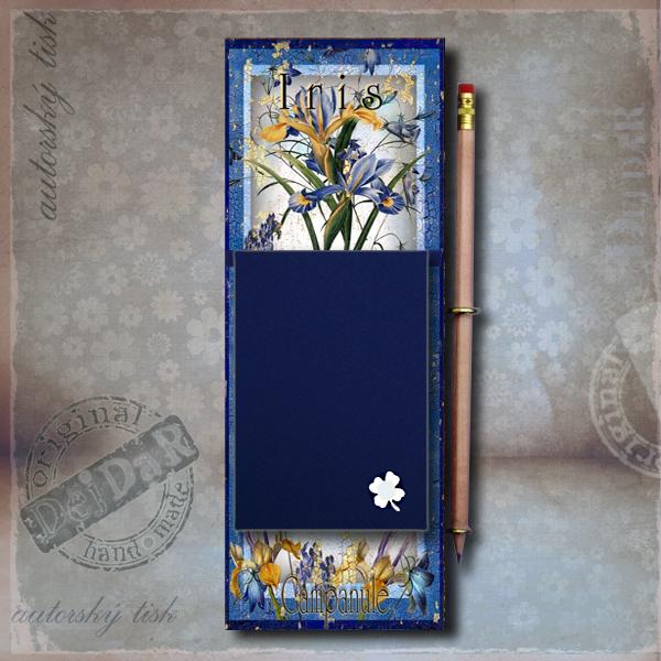Zápisník dekorace iris