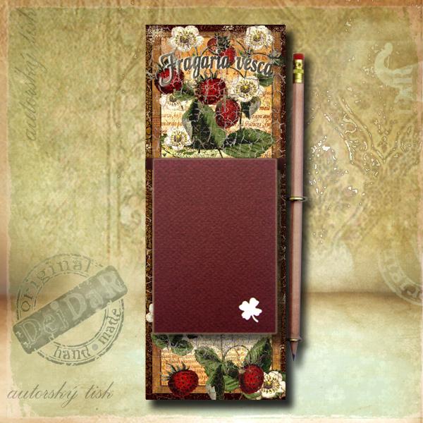Zápisník dekorace jahody