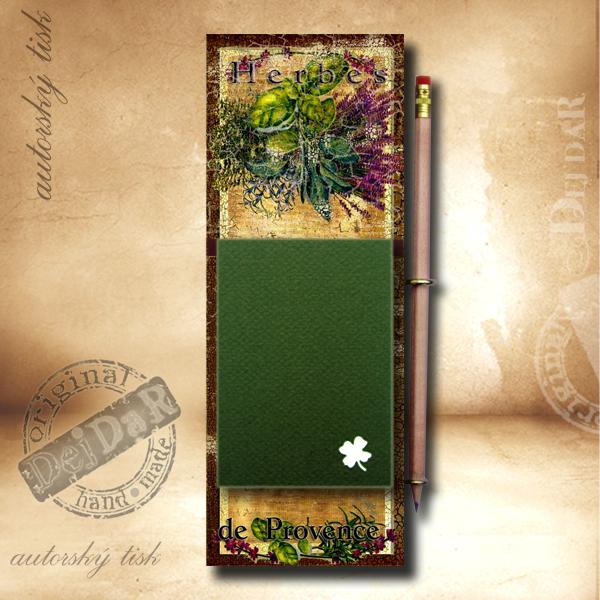 Zápisník dekorace Provence