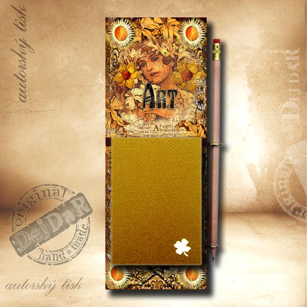 Zápisník dekorace secese