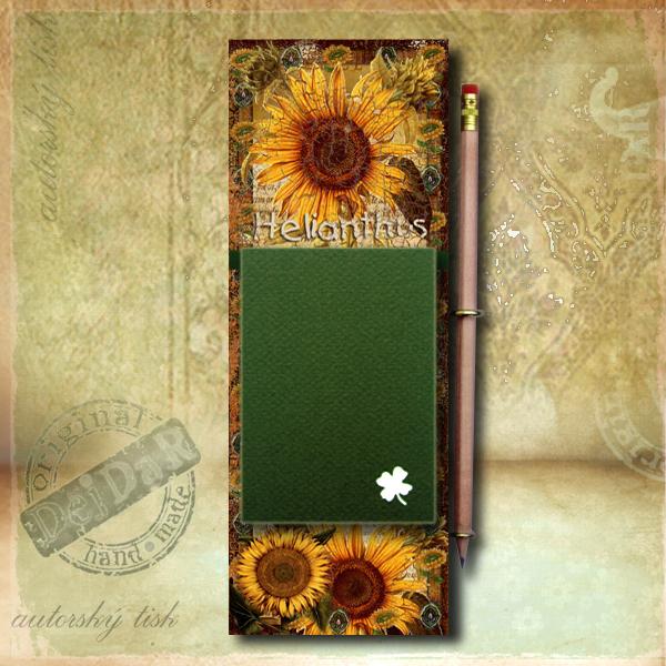 Zápisník dekorace slunečnice I.