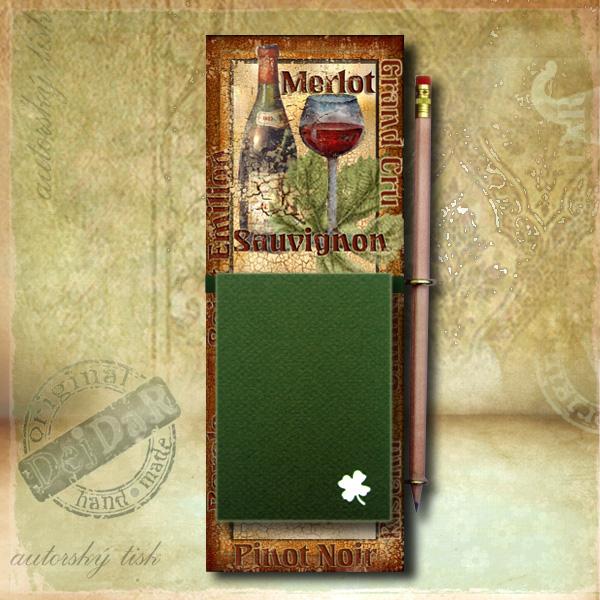Zápisník dekorace víno