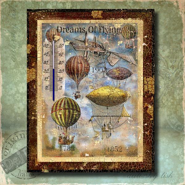 Teploměr dekorační v. balóny
