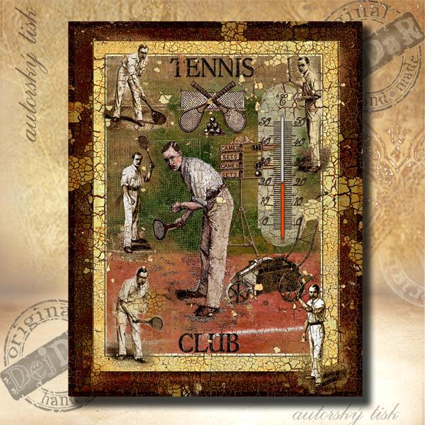 Teploměr dekorační v. tenis