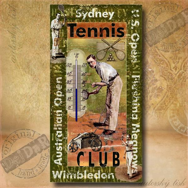 Teploměr dekorační p. tenis