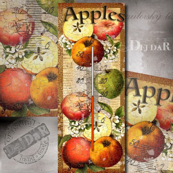 Teploměr jablko