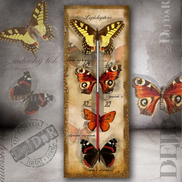 Teploměr motýli