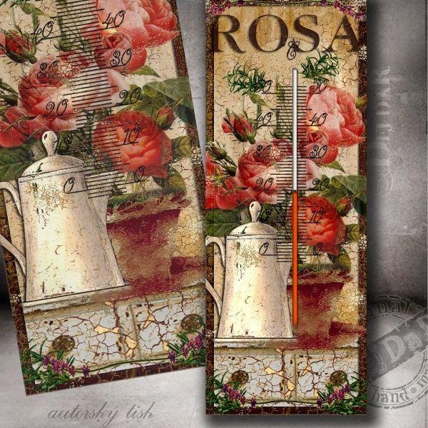 Teploměr růže II.