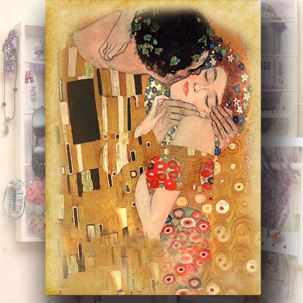 Věšák na šperky – polibek