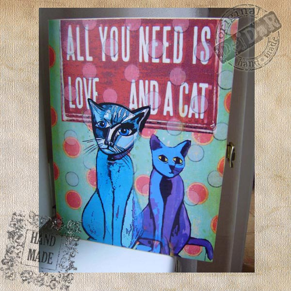 Skříňka na klíče - kočky