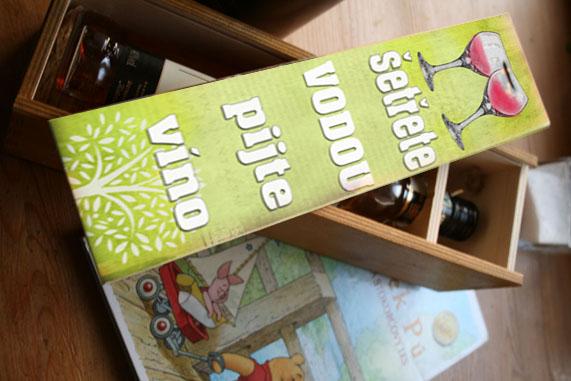 originální nejen svatební dar - krabice na víno