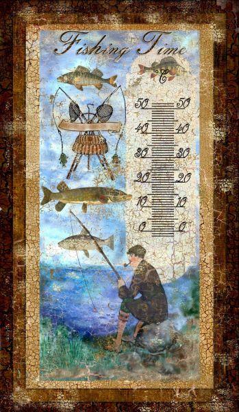 Teploměr pokojový rybář