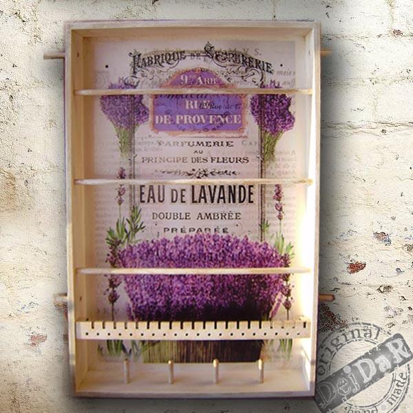 Věšák na šperky - Levandule