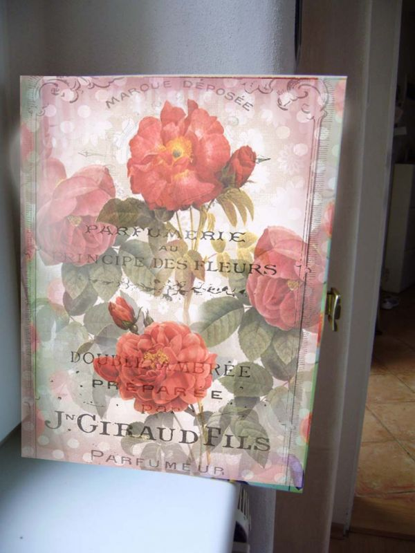 Skříňka na klíče - růže